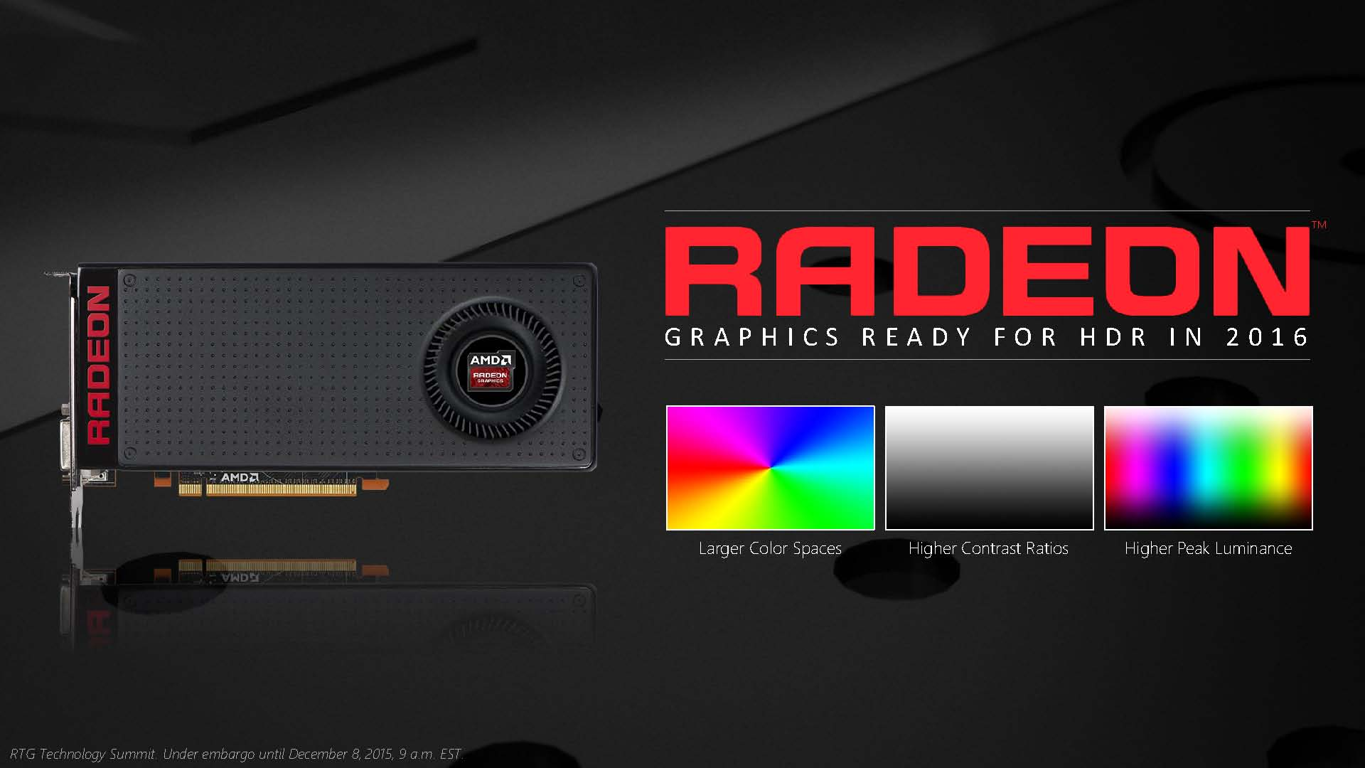 AMD Radeon Technologies Group (RTG) Announces Updates on HDR, FreeSync & DisplayPort 1.3 1