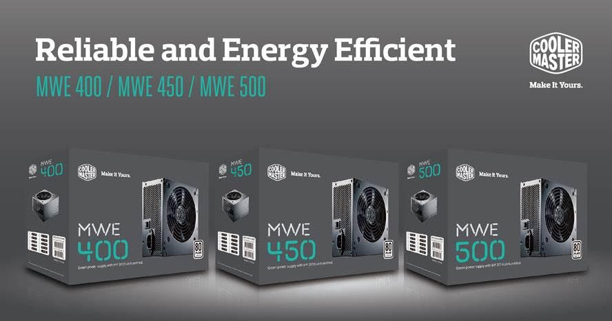 Cooler Master Introduces the MWE Series Power Supply Unit 1
