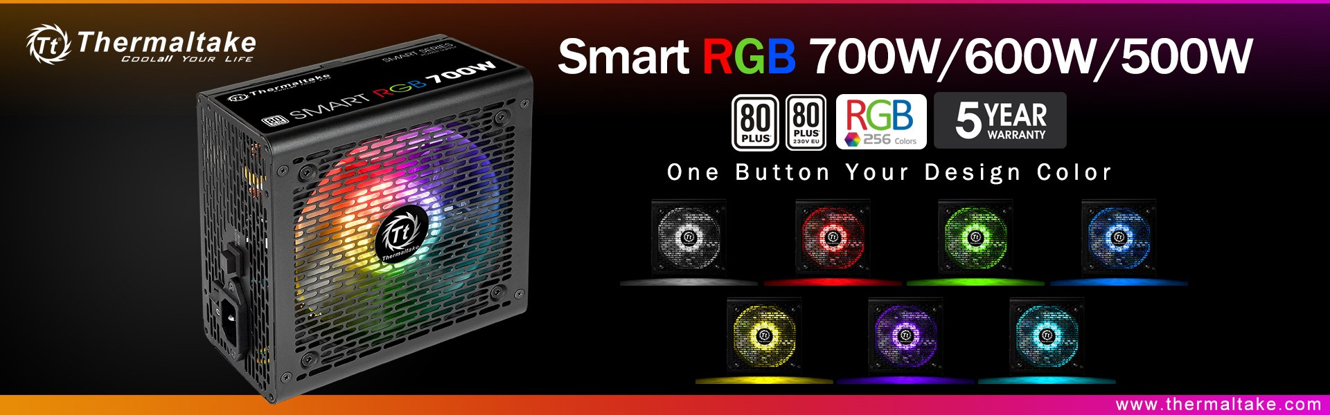 Thermaltake New Smart RGB Power Supply Series 7