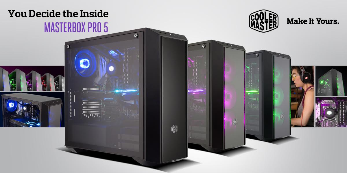 MasterBox Pro 5 with Transparent Front Panel, Tempered Glass and New RGB Edition 1