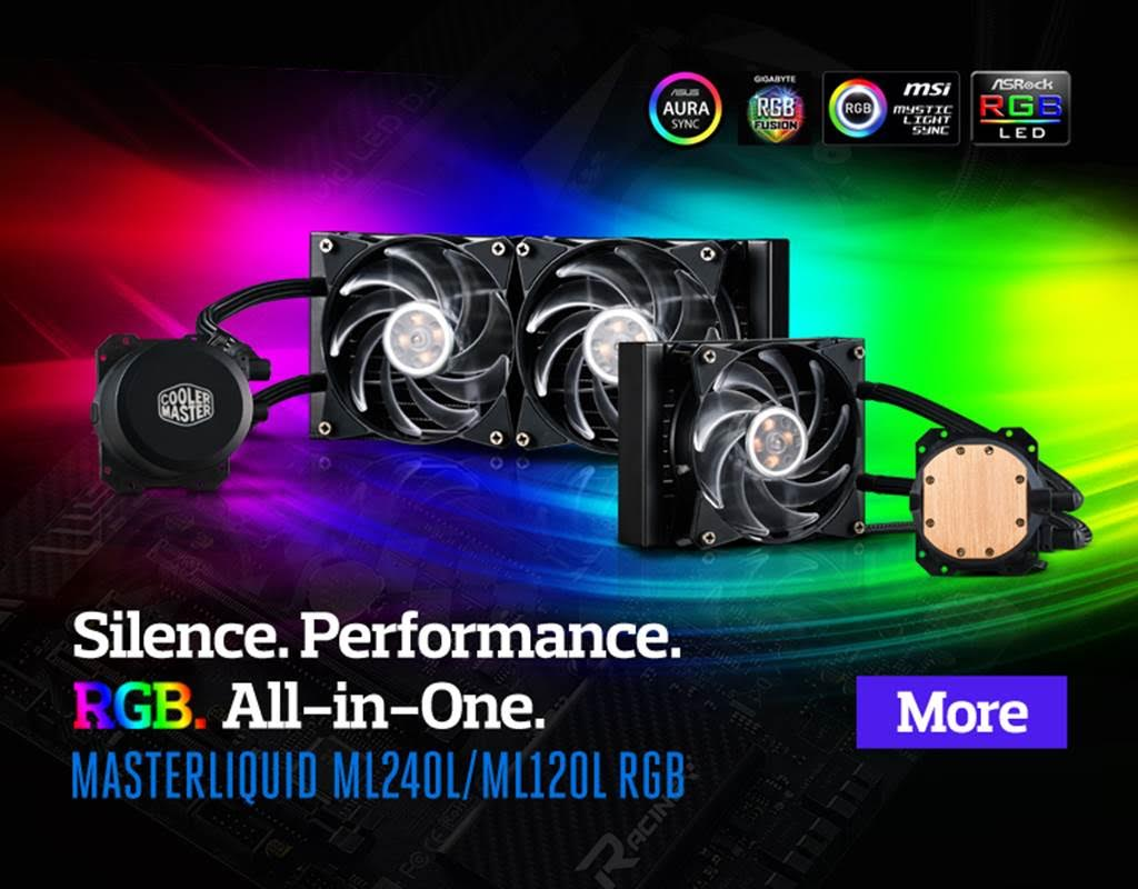 Cooler Master Launches the MasterLiquid ML120L & ML240L RGB 4