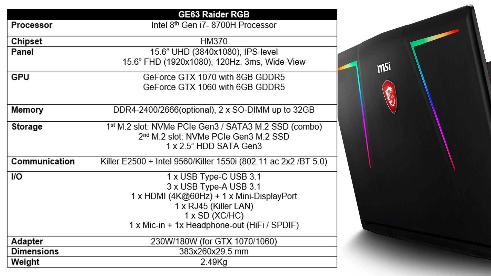 New Gaming Laptops from MSI with Intel 8th Generation Processors 6