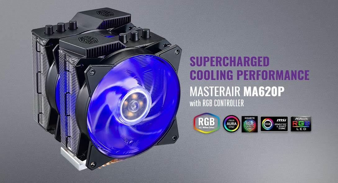 Cooler Master MasterAir MA620P Dual Tower Dual Fan Heatsink Now Available 4