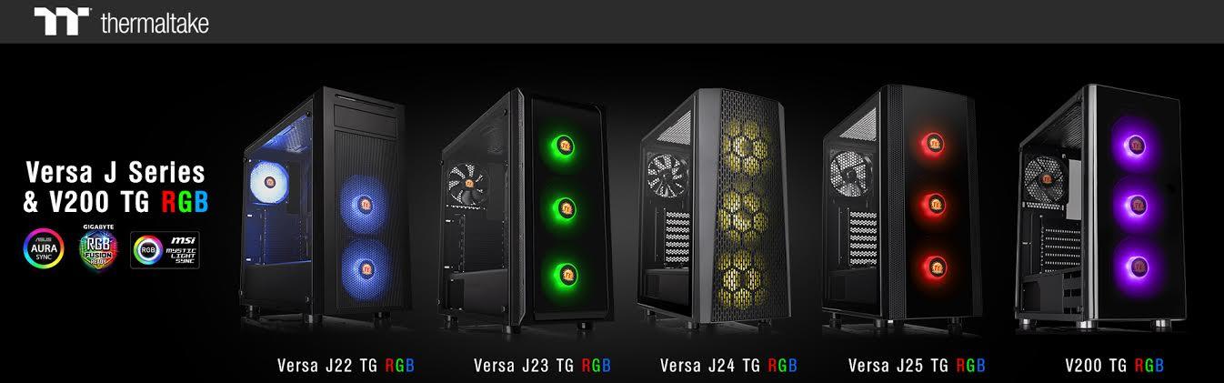 Thermaltake Unveils Versa J Series & V200 TG / TG RGB Edition Mid-Tower Chassis 1