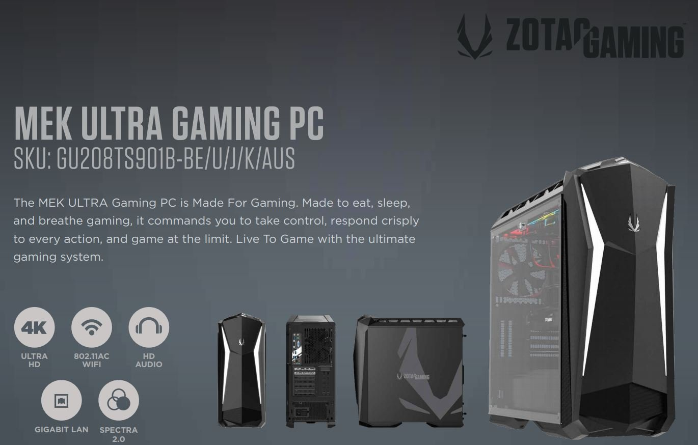 ZOTAC Launches the MEK ULTRA Gaming Systems 1