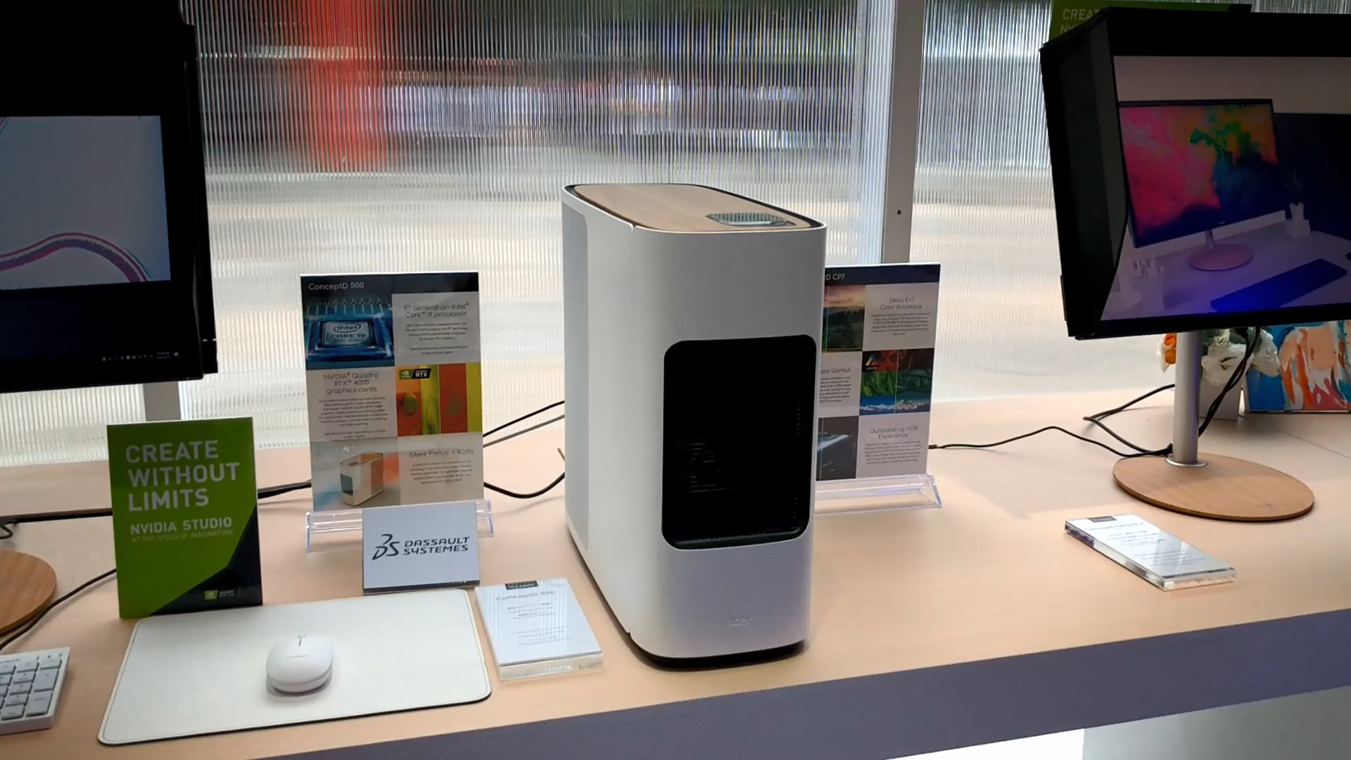 Acer ConceptD 500 Desktop, CP3217K P Monitor and CP7271K P Monitor at Computex 2019 5
