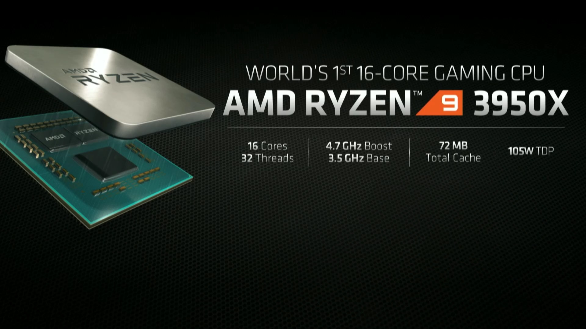 AMD Ryzen 9 3950X 16-core CPU Announced at E3 1