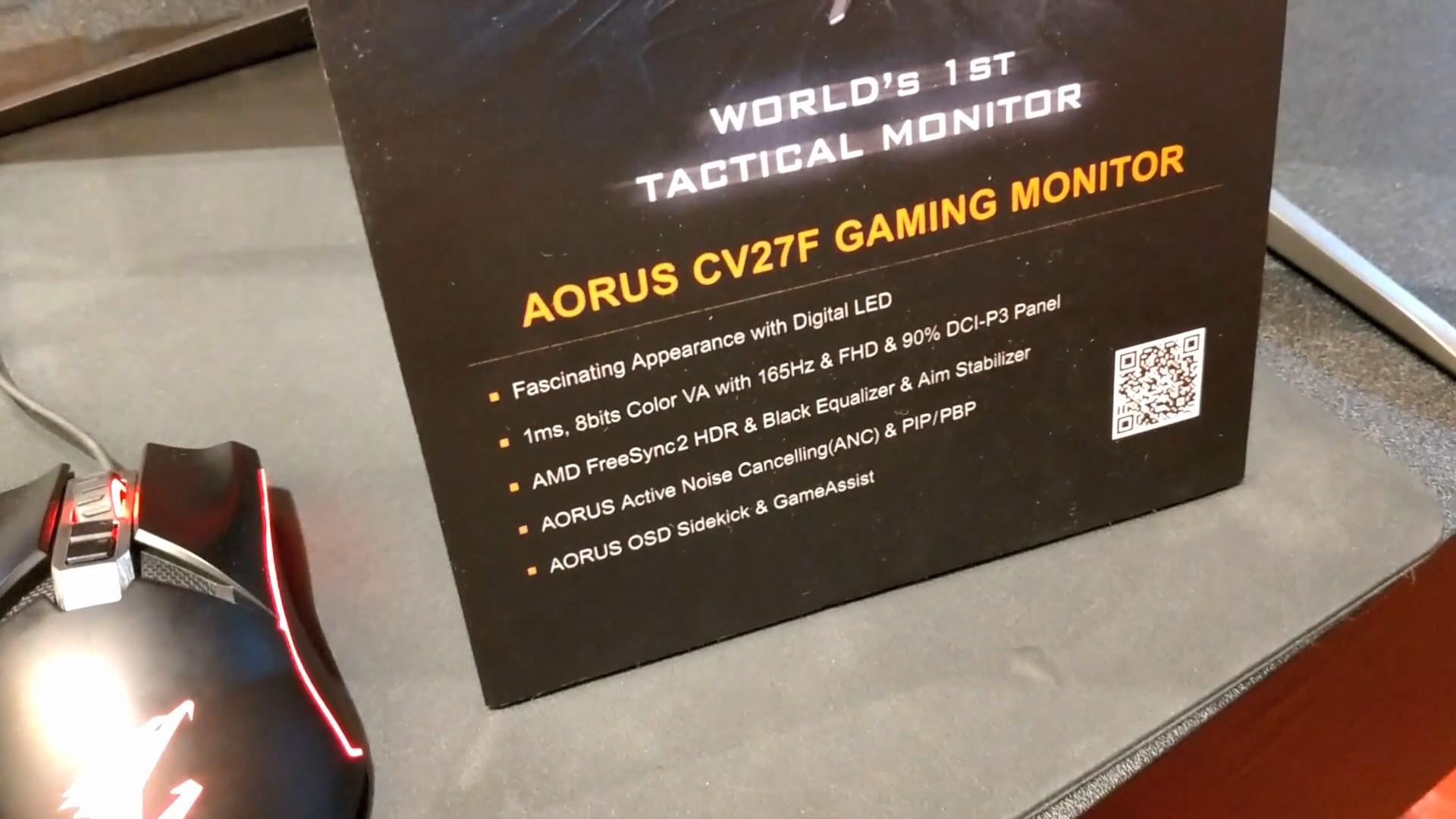 AORUS Introduces New CV27F and KD25F Gaming Monitors at Computex 2019 2