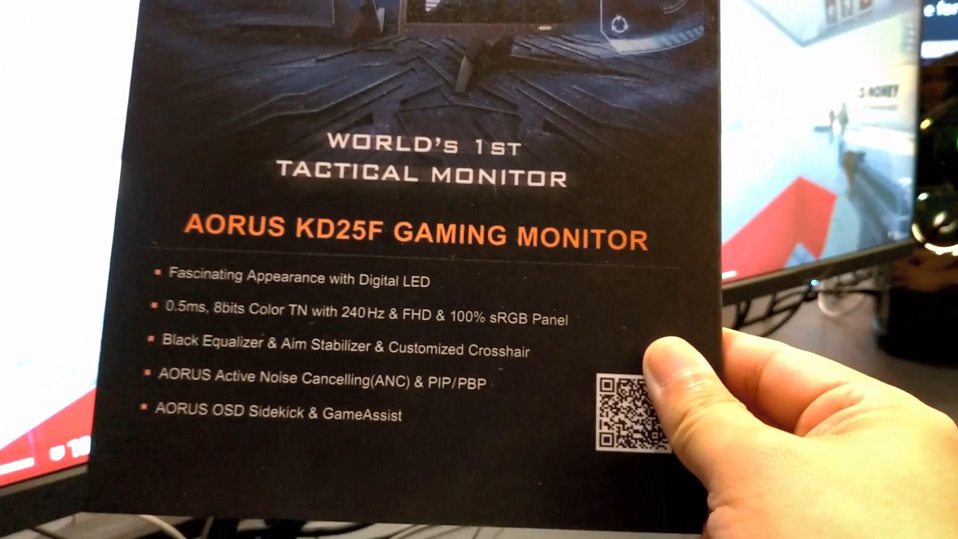 AORUS Introduces New CV27F and KD25F Gaming Monitors at Computex 2019 4
