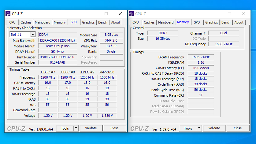 T-Force Vulcan Z DDR4 3200Mhz Memory Review 3