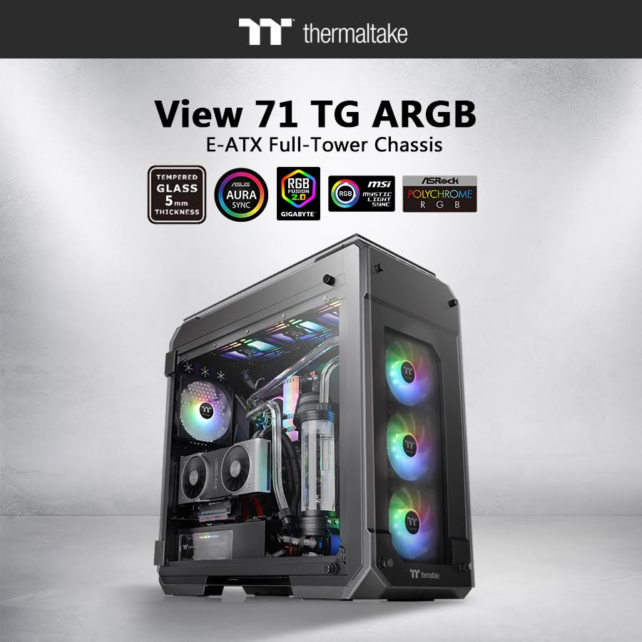 Thermaltake View 71 Tempered Glass ARGB Edition Launched 1