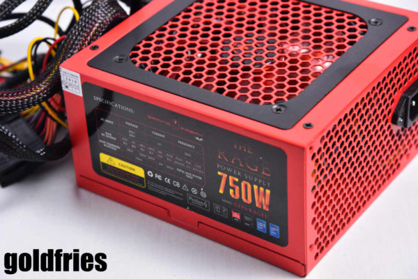 Gaming Freak The Rage 750W Power Supply Unit 2