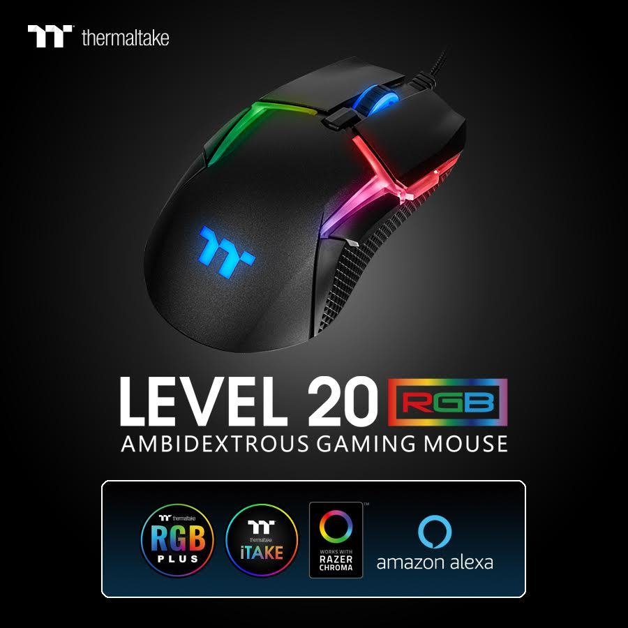 Level 20 Gaming Mouse By ThermalTake Launched 1