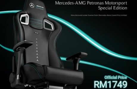 The noblechairs EPIC Mercedes-AMG Petronas Motorsport Edition at RM 1,749 18