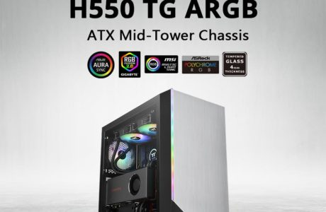 Thermaltake Releases H550 TG ARGB Mid-Tower Chassis 2