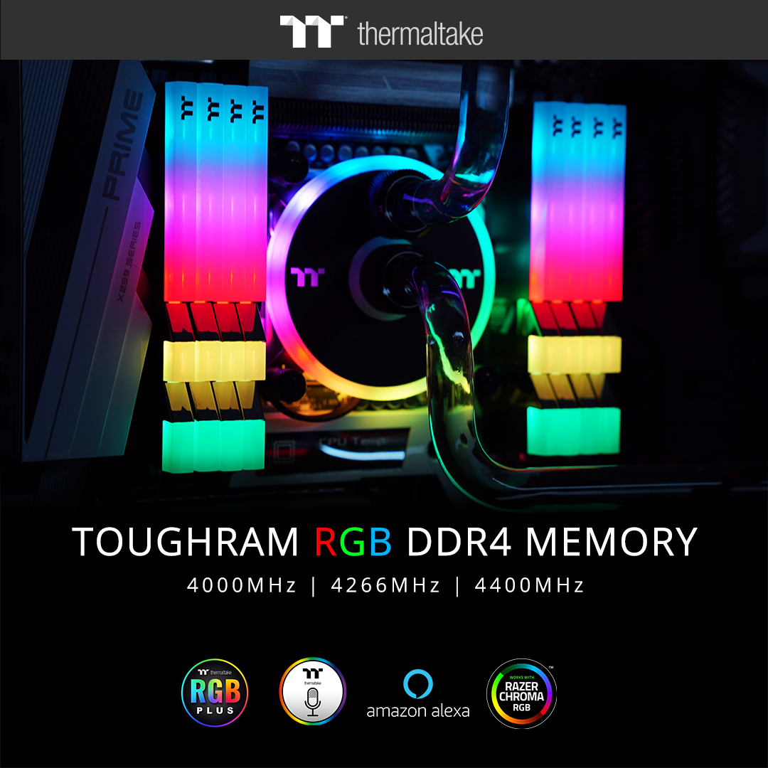 ThermalTake Releases TOUGHRAM 4000Mhz, 4266MHz and 4400Mhz Models 1