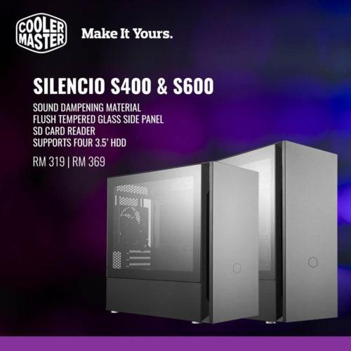 Cooler Master Silencio S400 & S600 Now in Malaysia 1