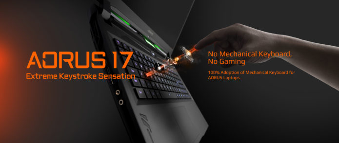 CES 2020 : Gigabyte Introduces New AORUS 17 with Mechanical Keyboard 7