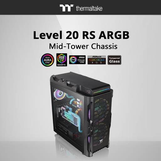 CES 2020 : Thermaltake Level 20 RS ARGB Mid Tower Chassis 6