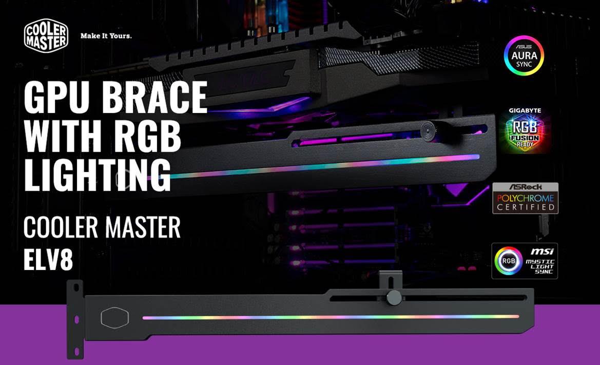 Cooler Master ELV8 ARGB Universal Graphics Card Holder 1