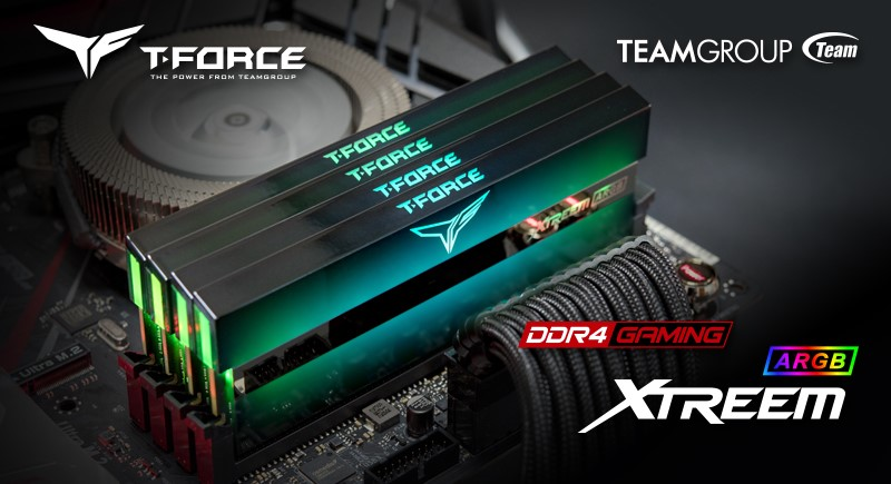 TEAMGROUP T-FORCE XTREEM ARGB Memory Module took the crown of AIDA64 Overclocking World Record of Quad Channel Kit 5