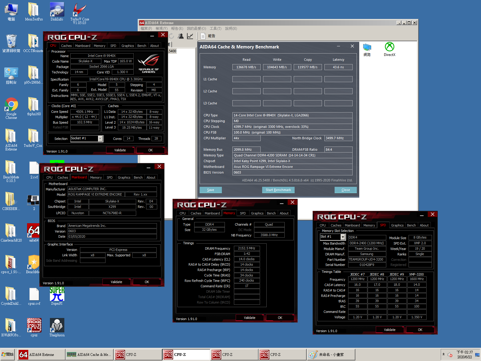 TEAMGROUP T-FORCE XTREEM ARGB Memory Module took the crown of AIDA64 Overclocking World Record of Quad Channel Kit 6